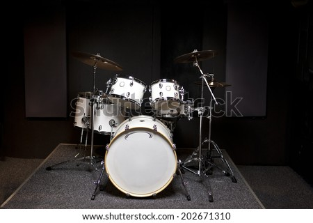 Drums musical tool - stock photo