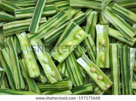 Drumstick Vegetable or Moringa. - stock photo
