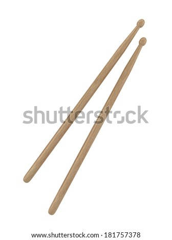 Drumsticks. 3d illustration on white background  - stock photo