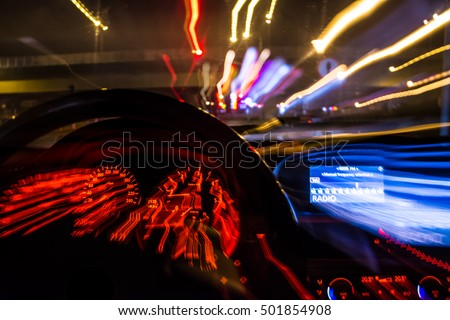 Reckless stock images royalty free images vectors shutterstock drunk driver goes at night view from inside abstract sciox Choice Image