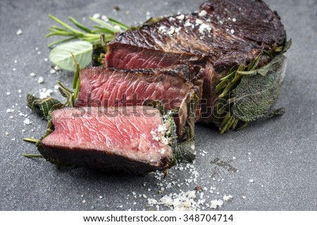 Dry Aged Barbecue Entrecote - stock photo
