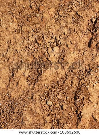 Dry agricultural brown soil detail natural background - stock photo