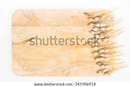 Dry anchovy for soup. Make a different in market industrial.  - stock photo