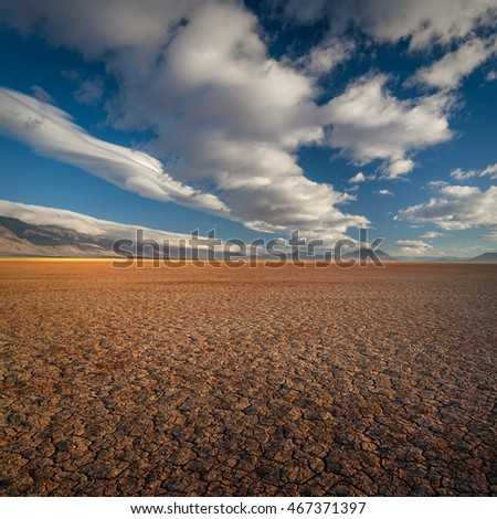 Dry and cracked lake bed of the Alvord Desert in southeastern Oregon, USA