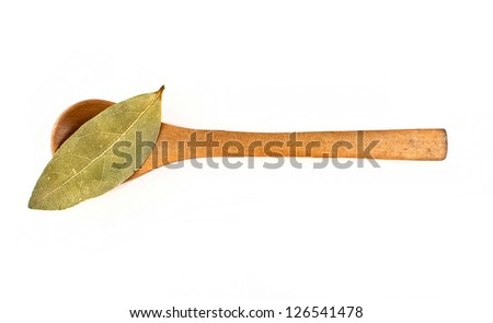 dry bay leaves isolated on white background