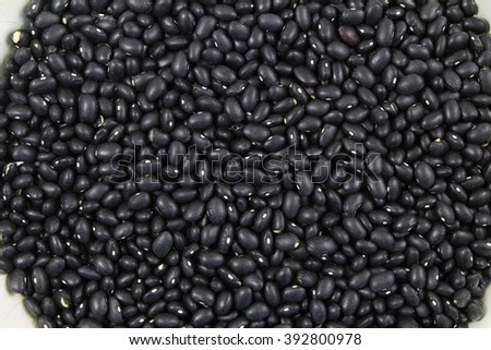 dry black beans as background