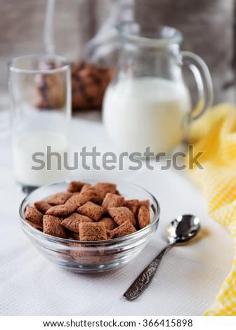Dry breakfast - stock photo