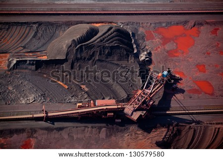 Dry bulk terminal - stock photo
