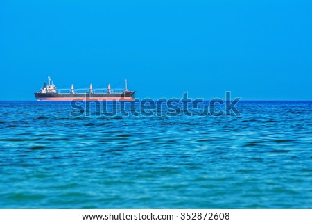 Dry Cargo Ship in the Black Dea - stock photo