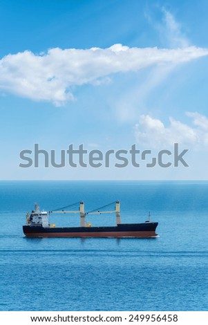 Dry Cargo Ship In The Black Sea - stock photo