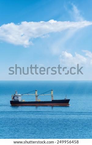 Dry Cargo Ship In The Black Sea - stock photo