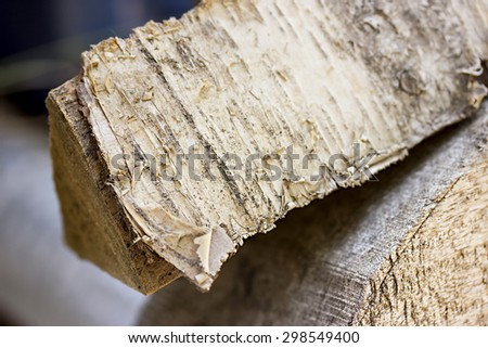 Dry chopped firewood logs in a pile - stock photo