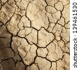 Dry cracked earth as texture - stock photo