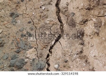 Dry cracked ground - stock photo