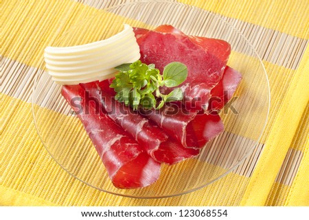 Dry cured ham  - stock photo