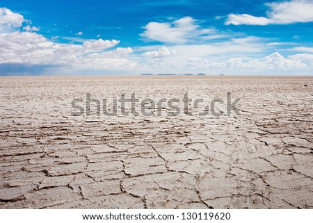 dry desert background from Bolivia - stock photo