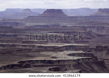 Dry Desert landscape for background or texture, from Southern Utah - stock photo
