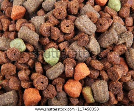 dry dog food - stock photo