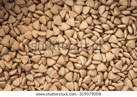 Dry food for dog and cat background - stock photo