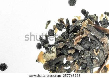 Dry Herb, white background - stock photo
