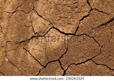 Dry lake bed texture - stock photo