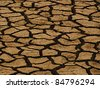 Dry land background - stock photo