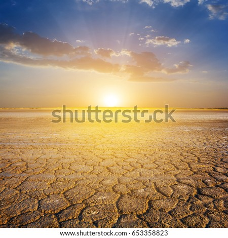 dry lands before a dusk