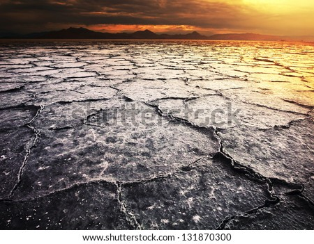 dry landscapes - stock photo