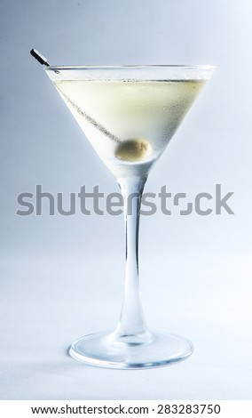 dry martini - stock photo
