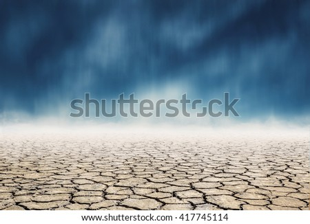 "dry mud which lack of water,expression on ""EL nino"" climate effect - stock photo"