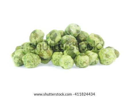 dry peas isolated on a white background - stock photo