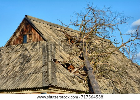Asbestos Roofing Shingles Stock Images Royalty Free