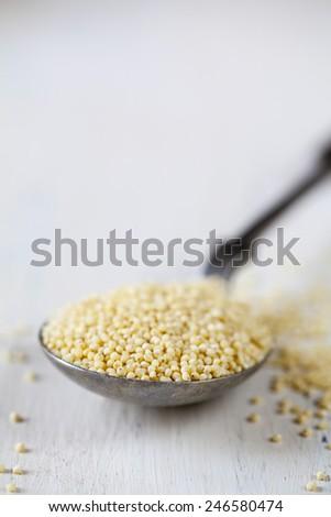Dry quinoa - stock photo