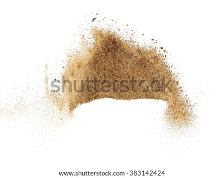 Dry river sand explosion - stock photo