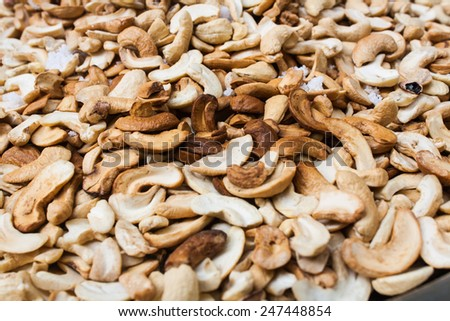 Dry Roasted Salted Cashews Nut - stock photo