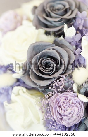 Dry rose flower bouquet - stock photo