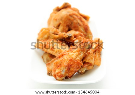 dry rub deep fried chicken wings, heartburn on a plate