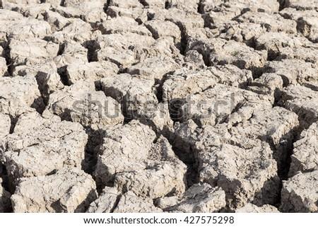 Dry soil Arid,drought land - stock photo