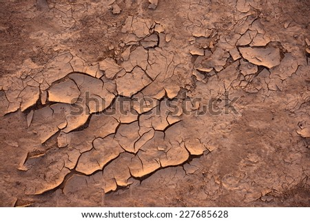 Dry soil closeup before rain background texture - stock photo