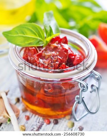 dry tomato - stock photo