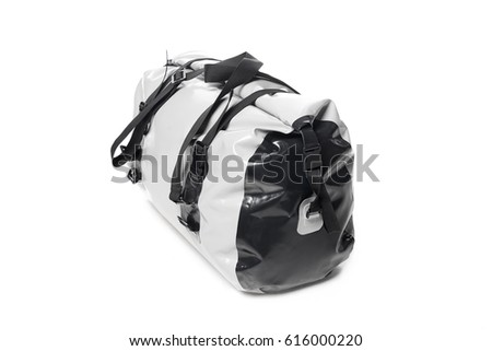 Dry waterproof bag for rafting isolated on white background