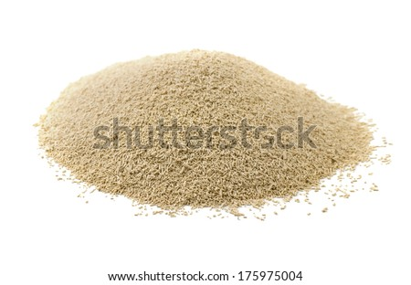 Dry yeast isolated on white - stock photo