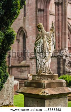 Dryburgh Abbey ruins, Scottish Borders - stock photo