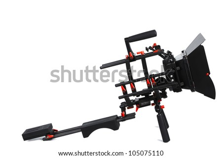 DSLR video rig - stock photo