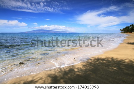 Dt. Fleming beach in west Maui, Hawaii - stock photo