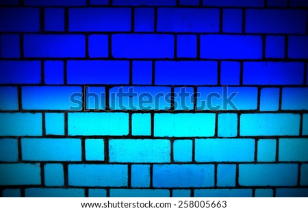 Dual color brick wall texture background -  blue