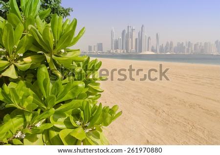 Dubai beach - stock photo