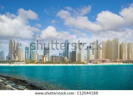 Dubai city, panoramic view - stock photo