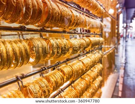 Dubai Gold Souq. - stock photo