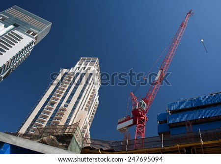 Dubai. Huge modern city with the developed infrastructure - stock photo